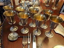 Sterling Silver Goblet Set