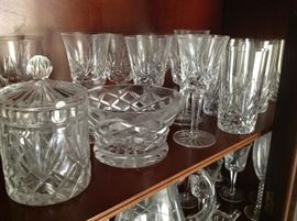 Waterford glassware and accessories - won't be available until the sale.
