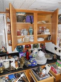 Cabinets Full of Glassware & Dishware