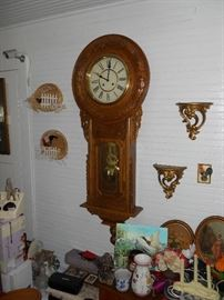 Large Antique Regulator Clock