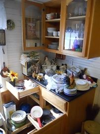 Cabinets Full of Dishware and Glassware