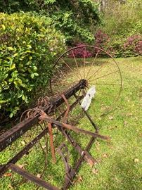 Antique farm implements
