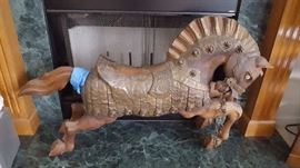 Wood Carved Carousel Horse