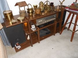 Brass ware, Stereo, Speakers