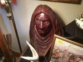 RL Blair carving