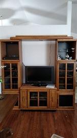 Oak 4 piece entertainment center