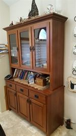 Cherry Lighted curio cabinet