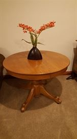 Antique claw-foot oak dining table