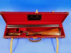 "16 Bore Holland & Holland Side-By-Side shotgun, #37816,  ""N"" on inlaid ""Coin"" on bottom of stock"