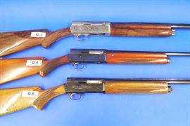 "(G.3) Browning Limited Edition 12 gauge, # 211bc/2958, (G.4) Browning ""Sweet Sixteen"" 16 gauge, # S/46967, (G.5) Browning 20 gauge, # 702/52558"