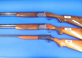 (G.7) Brescia, Model #2703, 20 gauge, over & under (G.8) Miida, Model #612 D, 20 gauge, over & under (G.9) Harrington & Richardson Model #58, single barrel shotgun