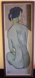 Nude Art Signed Herbert Hughes 1960