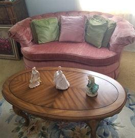 Small pink sofa