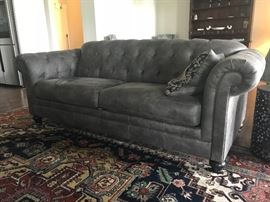Leather Chesterfield Style Sofa