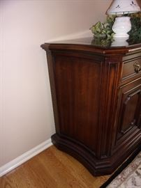 Italian Provincial Buffet made by Century. Top unfolds to expand surface area.