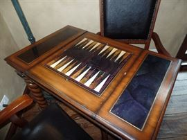 Game table w/2 matching chairs  - Chess and Backgammon boards