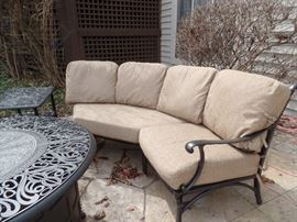 Like New patio set  -   Purchased 1 yr old from Great Escape - This set shown can also be separated into 2 parts