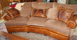 furniture leather upholstered sofa