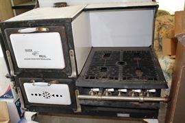 1 cast iron stove oven