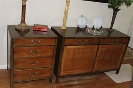 furniture MCM buffet and end table