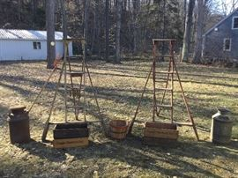 Orchard ladders, cherry lugs, more for rustic decor or weddings