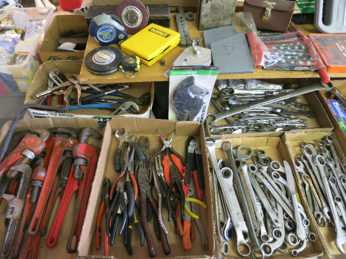 Pipe Wrenches, Pliers, Craftsman Tools