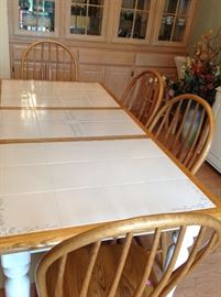 Dining Table with 4 Chairs and 1 Leaf