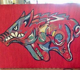 Arkansas Razorback Painting