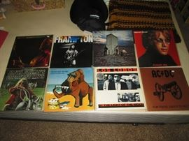 Upstairs 2nd Center Bedroom 60's-70's LP's Janis Joplin, AC/DC, Frampton, Los Lobos