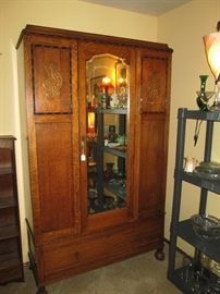 Living Room: Oak Armoire (English)
