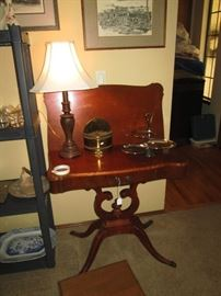 Family Room: Mahogany Game Table