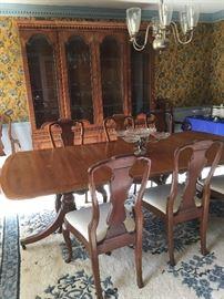 Henredon 18th Centure Yew Dining Room Set