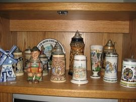 Large collection of German Steins