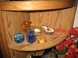 Vintage 1960 - 70's Murano paperweights and more.