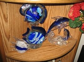 TONS of glass decor,  mostly nautical and beach themed.