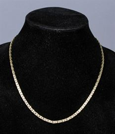 """Textured 14k Gold Chain with Sterling Silver Clasp, 18.2 Grams (Not Including Clasp), 20.5""""L"""