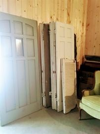 Collection of vintage doors and shutters.
