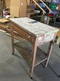 Vintage table with drawer.