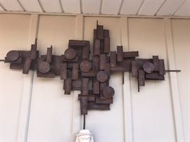 BRUTALIST WALL SCULPTURE