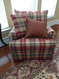 Huntington House plaid chair