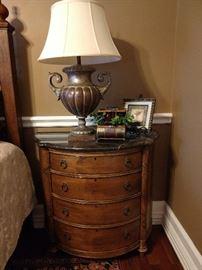 Lexington Southern Living side chest, Fine Arts lamp, decor