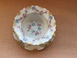 French porcelain bowl and under plate