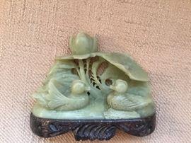 Soapstone carved ducks