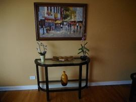 Pottery Barn 2 Tier Entry Way Table. Various Decorative Items throughout the home