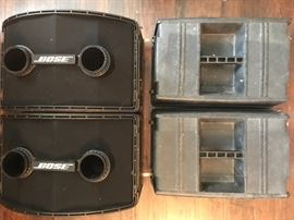 Large pr Bose speakers  802 series 2  With carry cases