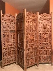 Ornate carved room screen