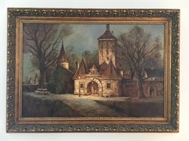 "Early to mid 20th century oil on canvas by listed German artist, Peter Samberger. Painting measures 24"" by 36"" without frame. THIS ITEM WILL NOT BE DISCOUNTED DURING THE SALE. HOWEVER, OFFERS ARE ENCOURAGED AND WILL BE CONSIDERED AT THE END OF THE SALE."