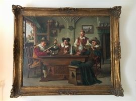 "Early 20th century oil painting on canvas by listed German artist, Emil Kulmann-Reher.  The painting measures 32"" by 40"" without frame. THIS ITEM WILL NOT BE DISCOUNTED DURING THE SALE. HOWEVER, OFFERS ARE ENCOURAGED AND WILL BE CONSIDERED AT THE END OF THE SALE."