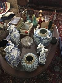 Collection of Asian and other porcelain items