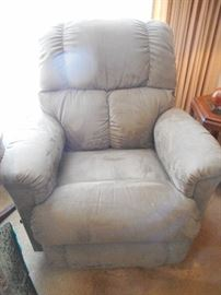 2 Yrs Old Ultra Suede Lazy Boy Recliner (2)